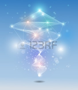 42338009-abstract-futuristic-molecules-technology-with-white-ray-wave-and-light-blue-colour-background-illus