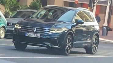 2021 VW Tiguan Spy Shot