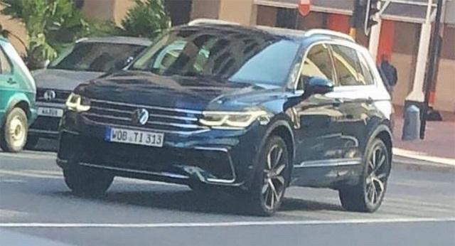 2021 VW Tiguan Spy Shot