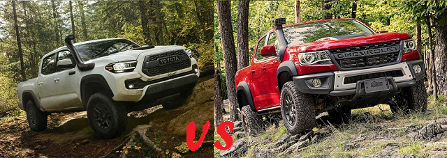 Toyota Tacoma TRD Pro vs Chevy Colorado ZR2