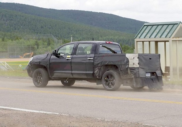 2021 Toyota Tundra Spy Shots rear suspension