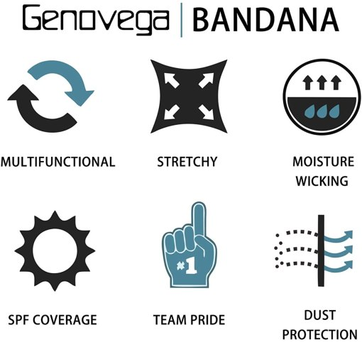 Genovega Unisex Neck Gaiter Face Cover for Cycling Hiking Fishing Sport Outdoor