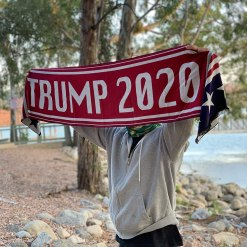 Scarf for Women and Men Presidential Election Trump 2020 MAGA American Flag USA
