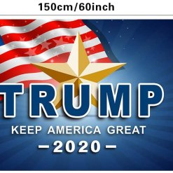 QSUM Donald Trump 2020 3 x 5 ft Flag for 45th President,Make Keep America Great Flag for Party Decorations,Parades,Election Day Celebration Event