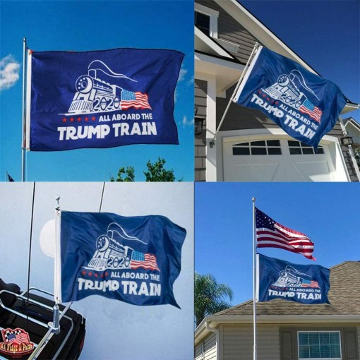 FRF Dynasty Trump Train 2020 Flag Outdoor Flag 3 x 5 feet with Two Brass Grommets Support for American President Trump Flag
