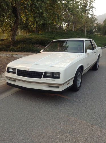 Monte Carlo Car 1988 : monte, carlo, Chevrolet, Monte, Carlo, 2-Door, White, Ext/Tan, Miles, Redlands,, California,, United, States