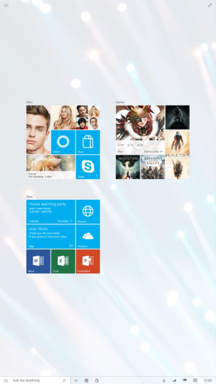 Windows 10 UI concept (2.5)