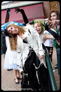 Freakin' zombies! Yikes!