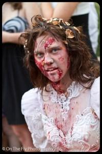 Bridal zombie.  Nice dress.