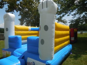 12Funny Bunny bounce house side