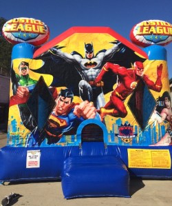 10Justice League Bounce House