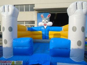 10Funny Bunny bounce house moonwalk front