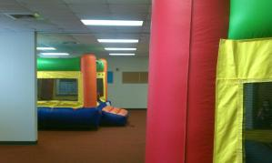 Fun Indoor bounce house moonwalk