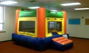 9Fun Indoor Out Orange Bounce House moonwalk