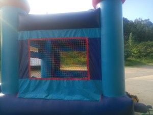 1Blue Sky moonwalk bounce house combo