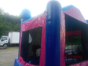 1Frozen Bounce House moonwalk back