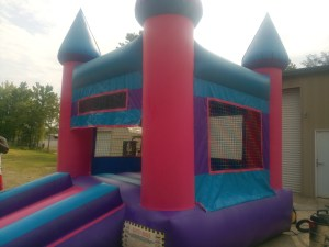 6Pink Castle bounce house combo