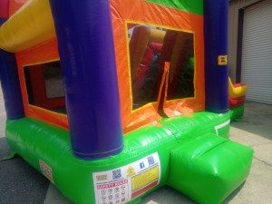 9Over the Rainbow bounce house combo