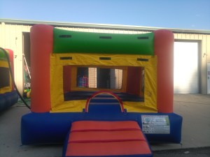 6Fun Indoor Out Orange Bounce House moonwalk