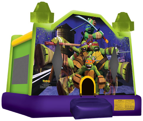 1Teenage Mutant Ninja Turtles Bounce House moonwalk