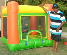 1Baby orange toddler jump bounce house moonwalk