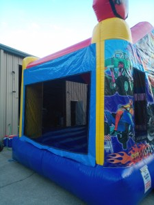 racing fun bounce house side 2