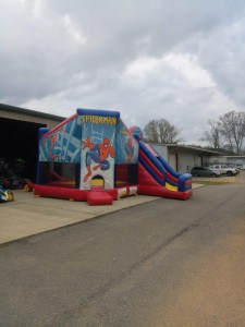 Super hero bounce house combo front 2