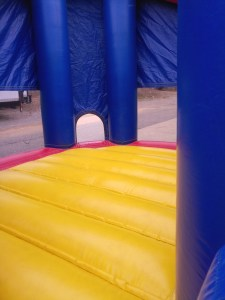 Super hero bounce house combo slide