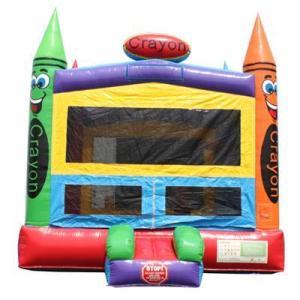 Crayon bounce house Slide angle