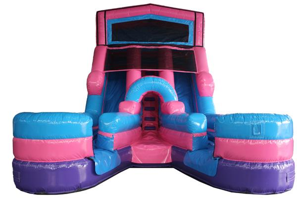 205Party Girl Power Twin Tower Wet Dry Slide