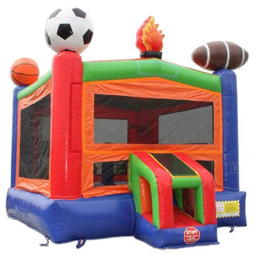 Lets Play Ball Bounce House Side angle
