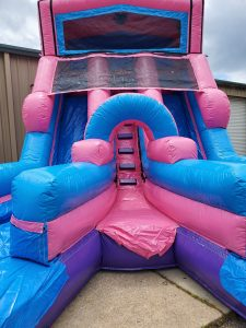 205Party Girl Power Twin Tower Wet Dry Slide front