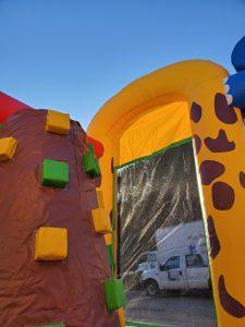 Animal Kingdom climbing wall side
