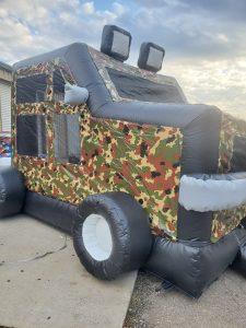military hummer side