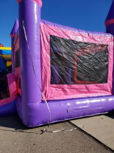 Tickled Pink Bounce House side