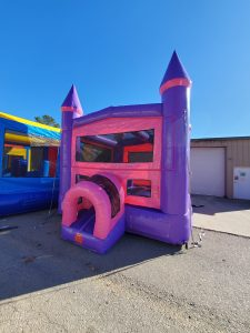 Tickled Pink Bounce House front
