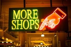 more shops sign