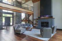 Custom Home 4d Design Living Room Space Open Concept Stone