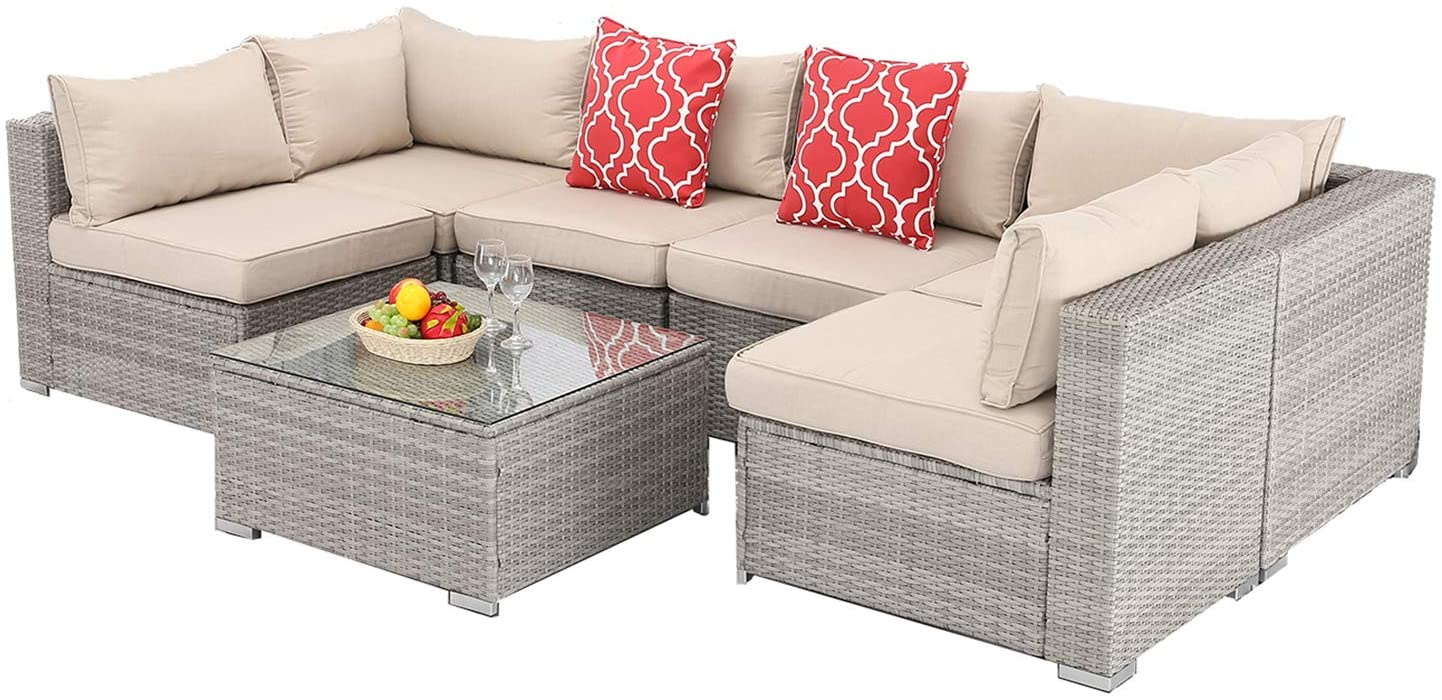 furnimy outdoor patio couch furniture set