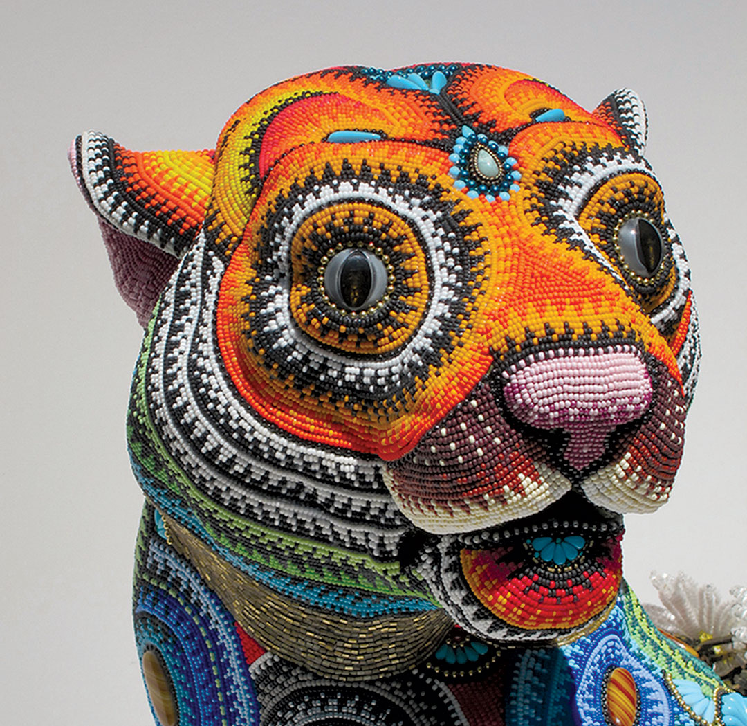 Beading by Jan Huling – Taming The Tiger (Detail)