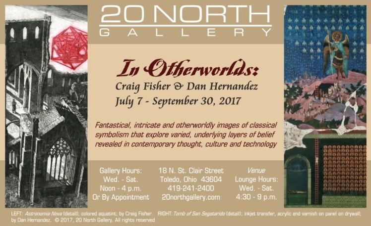 """""""In Otherworlds"""" postcard"""