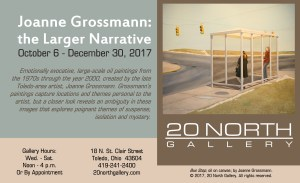 """Joanne Grossmann: the Larger Narrative"" postcard"