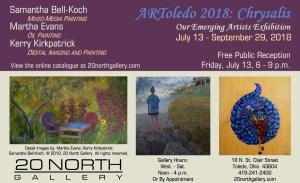 """ARToledo 2018: Chrysalis"" postcard"
