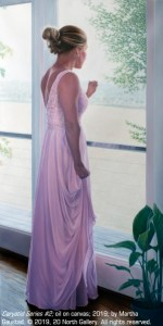 """Caryatid Series #2,"" oil painting by Martha Gaustad"