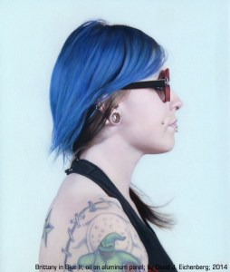 """""""Brittany in Blue II"""" oil on panel by David J. Eichenberg"""