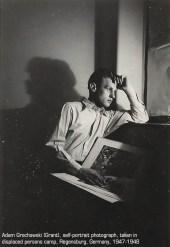 Adam Grochowski self portrait in Regensburg, 1947-48