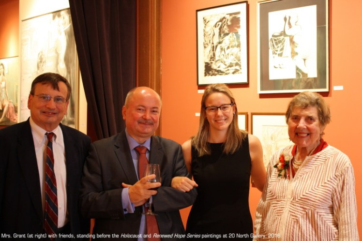 Dr. John Dooner, His Excellency Adam Kulach, Rachael Sodeman and Peggy Grant at 20 North Gallery, 2016