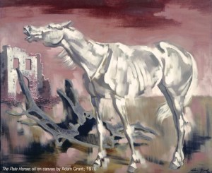 """""""The Pale Horse,"""" oil on canvas by Adam Grant"""
