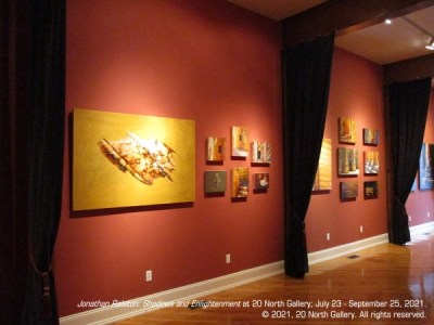 """""""Shadows and Enlightenment"""" installation at 20 North Gallery"""