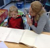 Mrs. Appelbaum even joined in and listened to Jacob read his story called Mr. Zap.